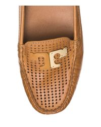 Tory Burch - Brown Culver Perforated Driver - Lyst