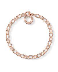 Thomas Sabo   Metallic Charm Club Charm Bracelet In Rose Gold   Lyst