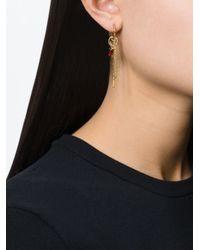 Wouters & Hendrix | Metallic 'playfully Precious' Garnet Mis-match Earrings | Lyst