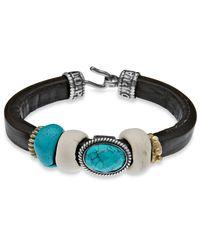 Platadepalo | Black Classic Resin & Turquoise Bracelet | Lyst