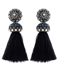 Lanvin | Blue Tassel Clip-on Earrings | Lyst
