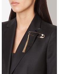 Sonia Rykiel | Metallic Chain Tassel Brooch | Lyst