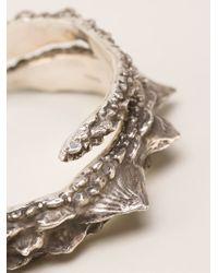 Henson - Metallic 'barb' Wrap Diamond Bangle - Lyst