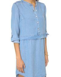 Splendid - Blue Chambray Shirtdress - Lyst