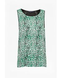 French Connection   Black Wildcat Polly Vest Top   Lyst