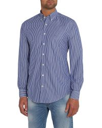 GANT | Blue The Breton Classic Fit Shirt for Men | Lyst
