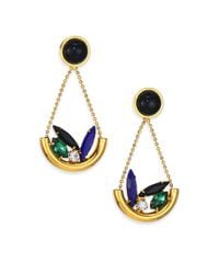 Lizzie Fortunato | Metallic Moroccan Garden Black Onyx & Crystal Cluster Drop Earrings | Lyst