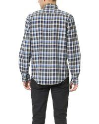 Ben Sherman - Blue Indigo Plaid Shirt for Men - Lyst