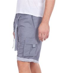 William Rast | Gray Linen-blend Roll-cuff Shorts for Men | Lyst