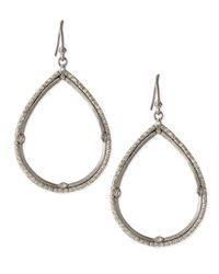Armenta | Metallic New World Silver & White Diamond Teardrop Earrings | Lyst