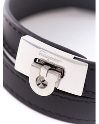 Ferragamo - Black Gancio Wrap Bracelet for Men - Lyst