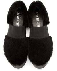 Opening Ceremony   Black Shearling Sneaker   Lyst