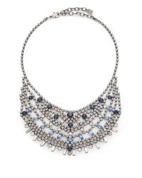 DANNIJO | Metallic Steinem Crystal Bib Necklace | Lyst