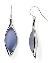 Alexis Bittar | Metallic Lucite Liquid Metal Framed Navette Dangle Wire Earrings | Lyst