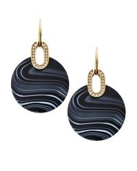 Michael Kors | Black City Disc Earrings | Lyst