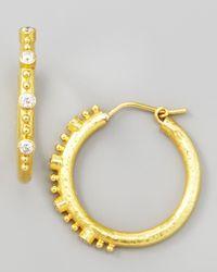 Elizabeth Locke - Metallic Giant Diamond 19k Gold Hoop Earrings - Lyst