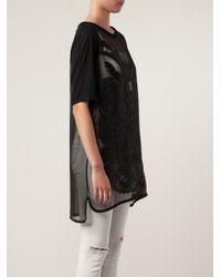 IRO - Black Sheer Tunic - Lyst