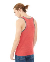 Alternative Apparel - Red Double Ringer Eco-jersey Tank Top for Men - Lyst