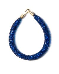 Peppercotton | Blue Capri Swarovski Crystal Bracelet | Lyst