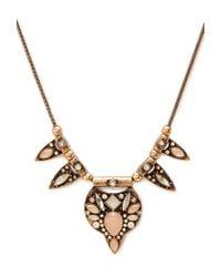 Forever 21 - Orange Art Deco Statement Necklace - Lyst