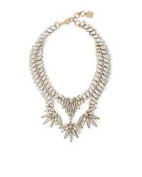 BCBGMAXAZRIA - Metallic Stone Statement Necklace - Lyst