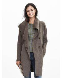 Banana Republic | Multicolor Belted Wrap Coat | Lyst