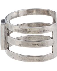 Pamela Love - Metallic Antique Silver Turquoise Inlay Cage Cuff - Lyst
