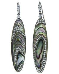 Arunashi - Green Abalone Shell Earring - Lyst