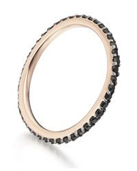Monica Vinader - Black Skinny Eternity Ring - Lyst