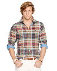Polo Ralph Lauren - Green Double-Faced Plaid Shirt for Men - Lyst