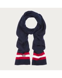 Bally - Blue Trainspotting Scarf Men's Wool Scarf In Ink for Men - Lyst