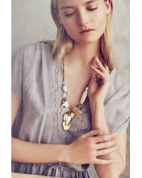 Anthropologie | Metallic Effervescent Layered Strands | Lyst