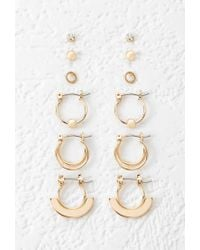 Forever 21 | Metallic Mini Hoop And Stud Set | Lyst