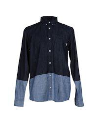 Carhartt - Blue Denim Shirt for Men - Lyst