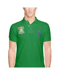 Polo Ralph Lauren - Green Slim-fit Big Pony Polo Shirt for Men - Lyst