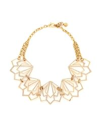 Lulu Frost | Metallic 'portico' Crystal Pavé Cutout Choker Necklace | Lyst