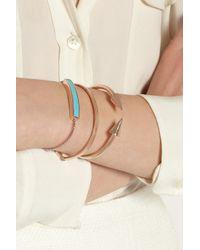Monica Vinader   Blue Rose Gold Vermeil Turquoise Bracelet   Lyst
