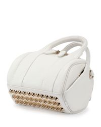 Alexander Wang - White Mini Rockie Leather Satchel Bag - Lyst