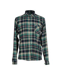 Solid - Blue Shirt for Men - Lyst