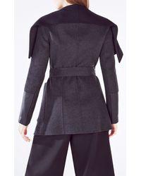 BCBGMAXAZRIA | Gray Hunter Open-front Wool Blend Jacket | Lyst