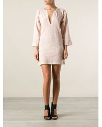 Étoile Isabel Marant - Pink Short Tunic Dress - Lyst