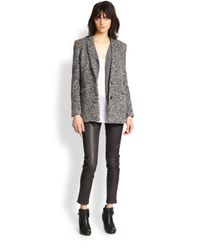 The Kooples - Black Patterned Shag-Textured Wool Jacket - Lyst