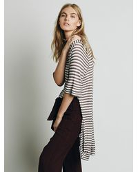 Free People | Gray We The Free Ryan Tee | Lyst