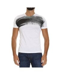 Emporio Armani | Black Printed T-shirt for Men | Lyst