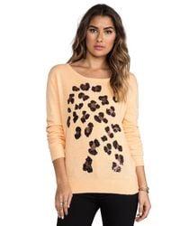 Wildfox | Leopard Spots Sweater in Orange | Lyst