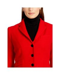 Ralph Lauren - Red Wool Three-button Jacket - Lyst