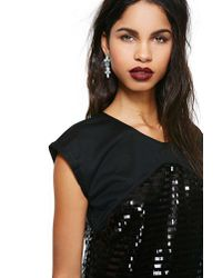 Nasty Gal | Black Night Glow Sequin Dress | Lyst