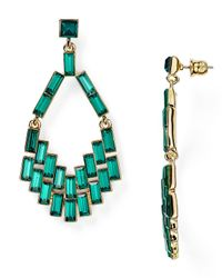 ABS By Allen Schwartz | Green Geometric Chandelier Earrings | Lyst