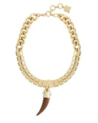 BCBGMAXAZRIA | Metallic Horn Pendant Necklace | Lyst