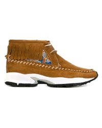 Philippe Model - Brown Rubber Sole Chukka Boots - Lyst